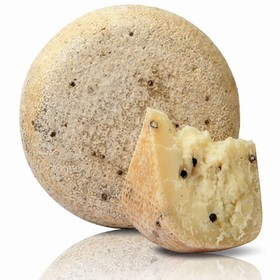 Sheep milk cheese with black pepper